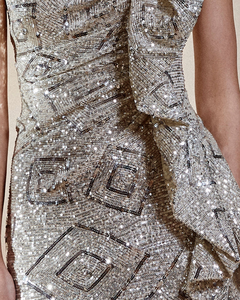 Strapless Fully Sequined Dress