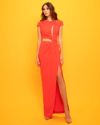 Crepe Dress With Cut-Out Details