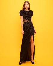 Draped Shimmery Long Dress