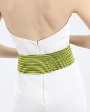 Knitted Green Belt With Cut-Outs