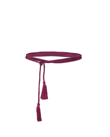 Wraparound Purple Belt With Tassels