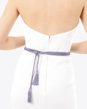 Wraparound Purple Grey Belt With Tassels