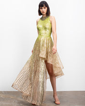 High-Low Full Sequined Dress