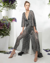 Pleated Shimmery Jumpsuit