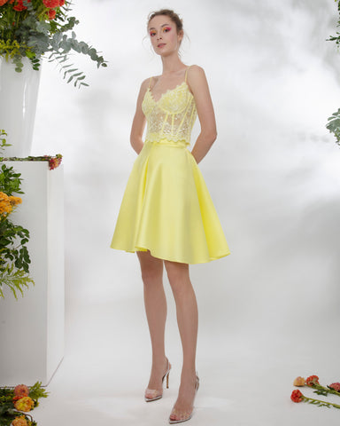 Mikado yellow Skirt