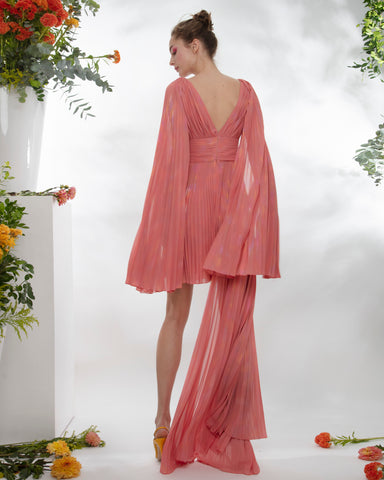 Pleated Mousseline Dress