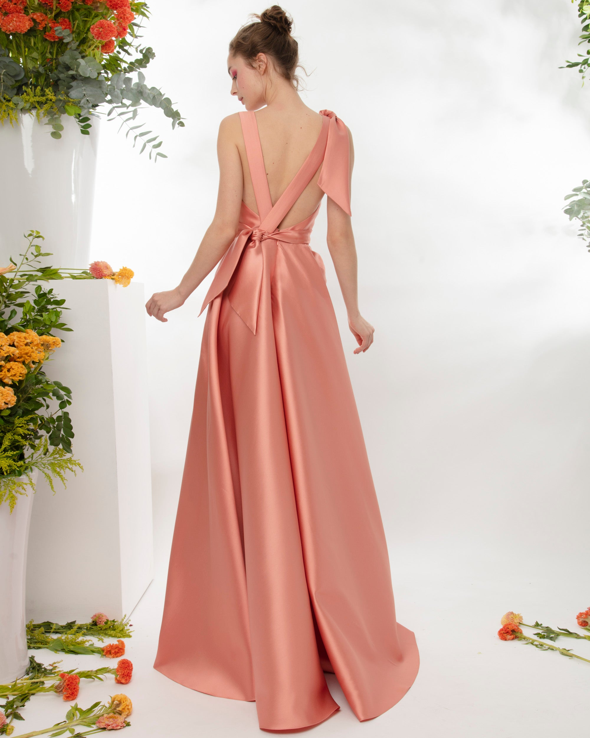 Long Dress With Bow Details