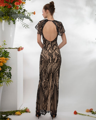 Open Back Long Dress