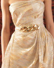 Strapless Dress With Integrated Belt