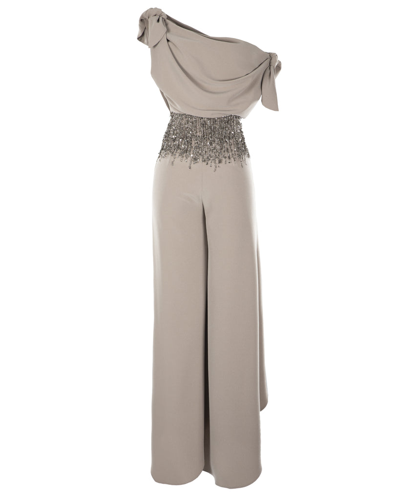 Draped Crepe Pants