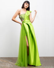 One-Shoulder Mikado Long Dress