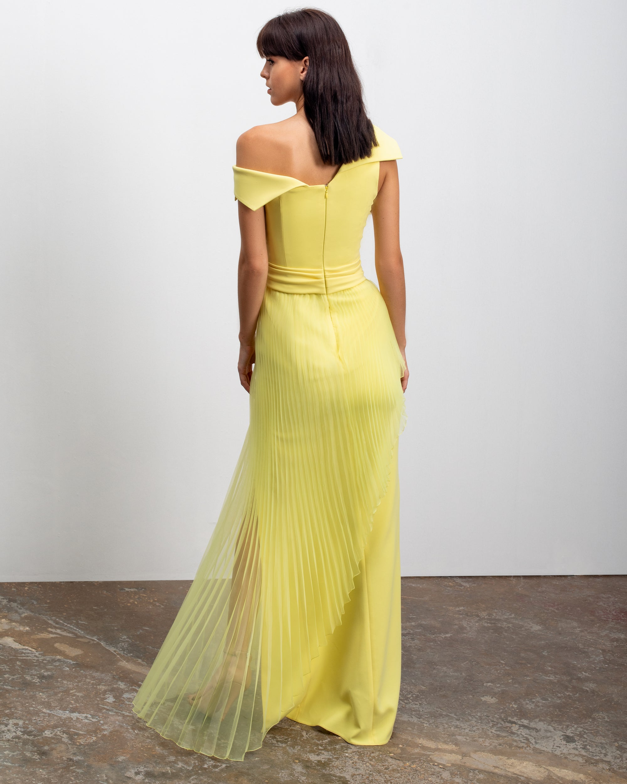 Crepe Long Dress