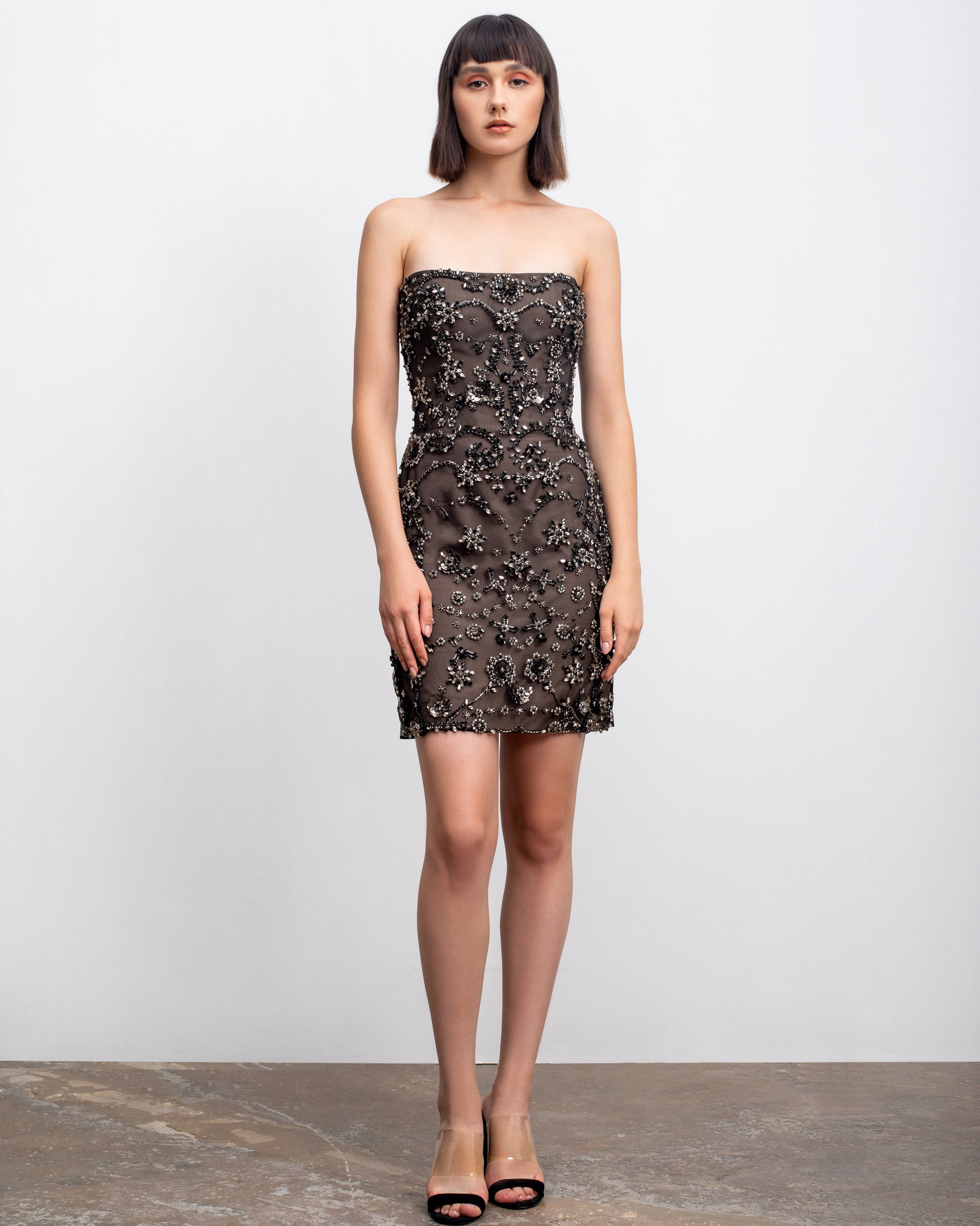 Bejeweled Short Dress