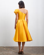 One-Shoulder Mikado Dress