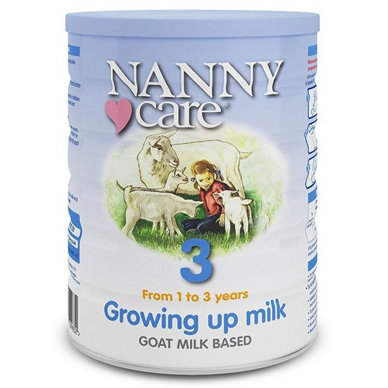 NANNYcare UK Stage 3 Goat Milk Growing Up Milk Formula (12+ months) 900g