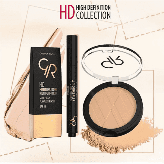 HD kolekcija – HD Foundation, HD Concealer - Golden Rose Hrvatska