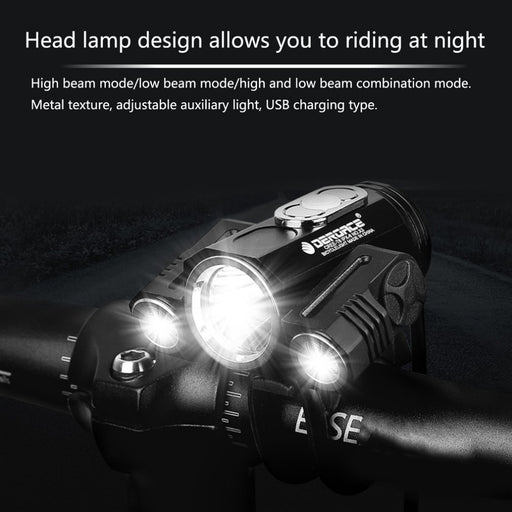 Adjustable Bright Bicycle USB Charging Headlight