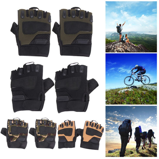 Outdoor Tactical Half Finger Army Gloves Cycling Gloves
