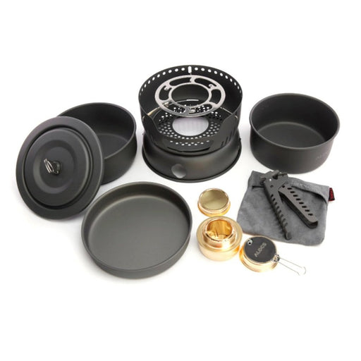 Non-Stick Cookware 10 Sets With Stove for 2-4 People