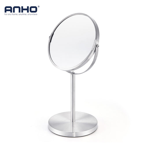 7 Inch 3X Magnification Makeup Mirror Dual Side Round Shape Rotating Mirror