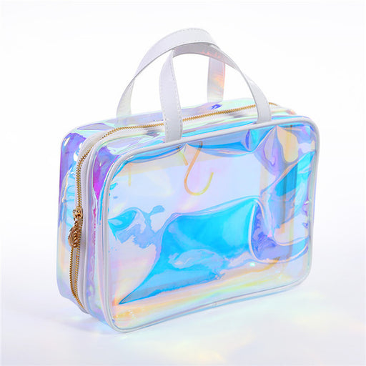 Holographic Rainbow Cosmetic Tools Tidy and Travel Purse