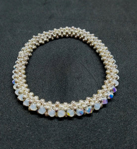 Opal Right Angle Bangle