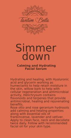 Simmer Down Calming Facial Serum - Now with Skin Smoothing Peptides!