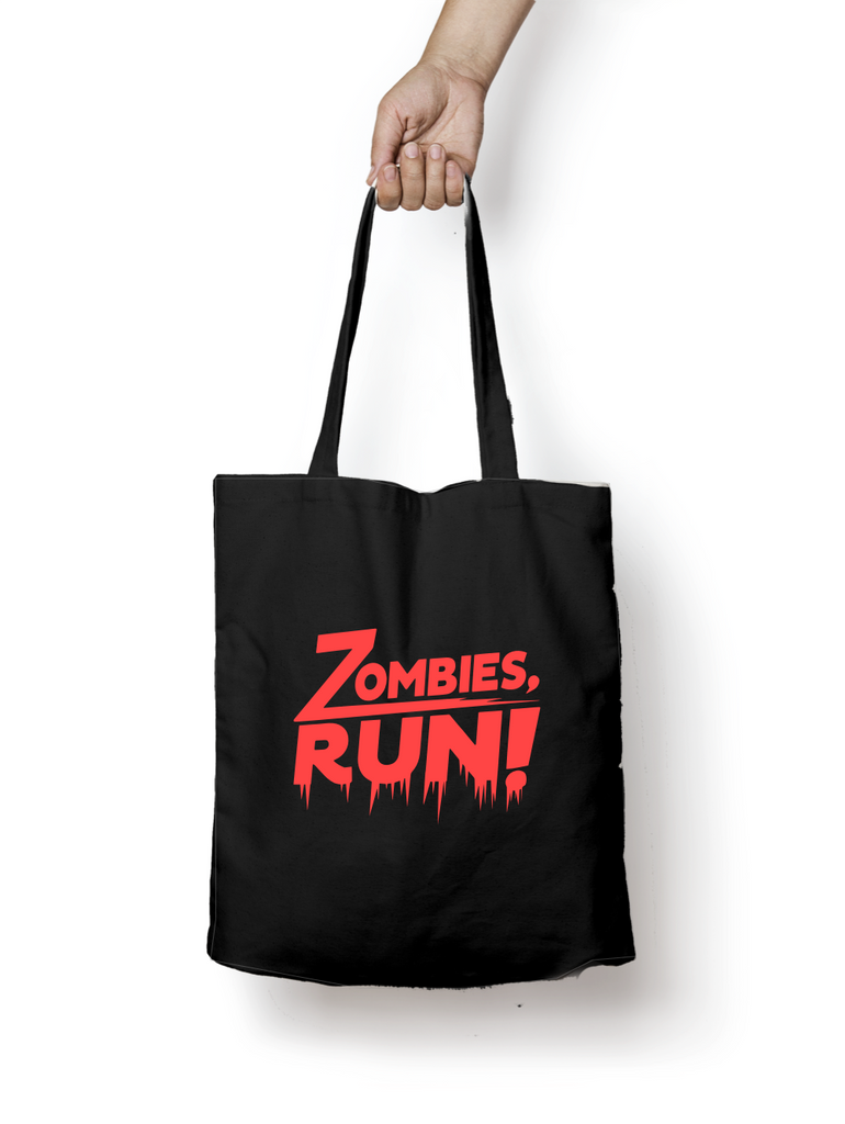 Zombies Run Blood Red Tote Bag