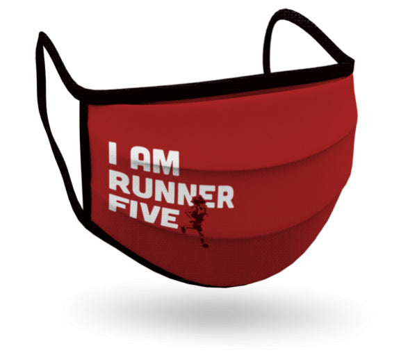I Am Runner Five face mask