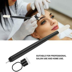 Disposable Microblading Hand Tool Black with sponge and pigment finger cup