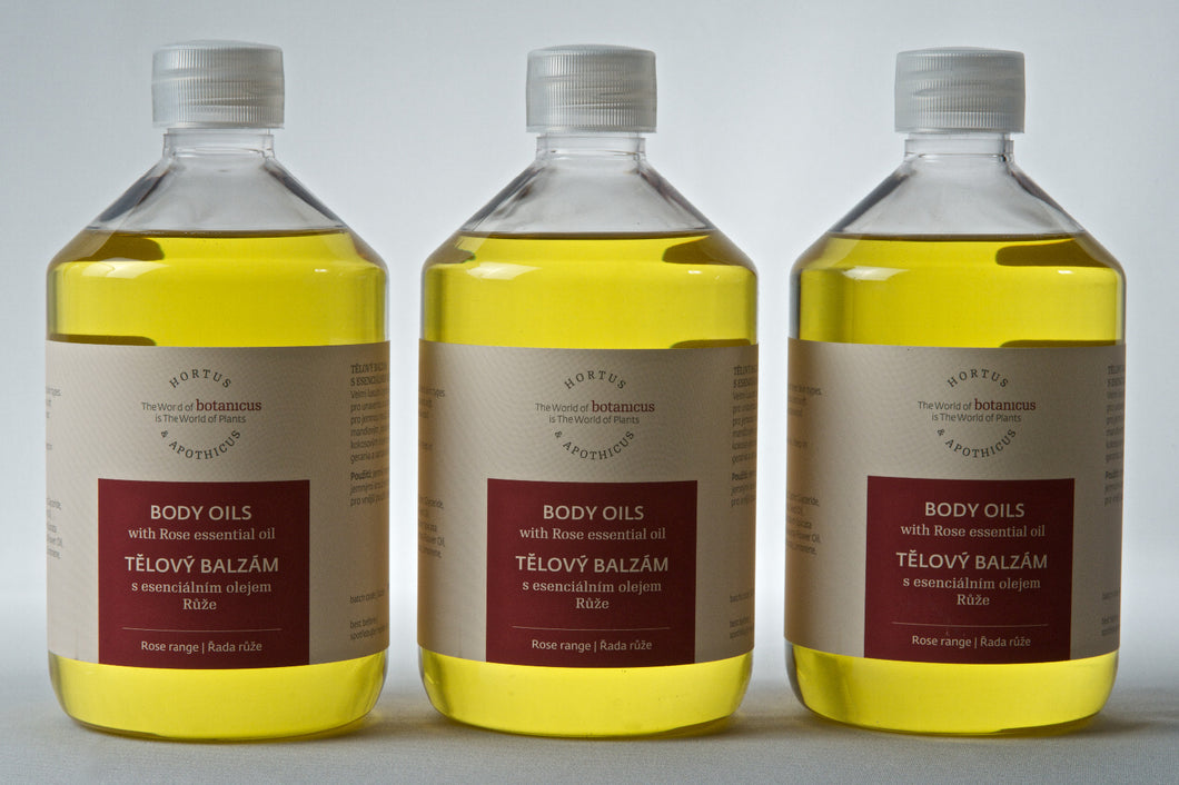 Body Oils Balm with Rose Essential Oil
