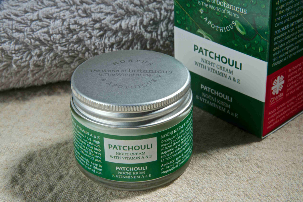 Patchouli Night Cream with Vitamin A & E