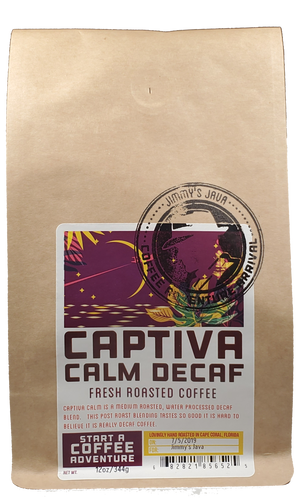 CBD Infused CAPTIVA CALM - MEDIUM ROAST DECAF BLEND