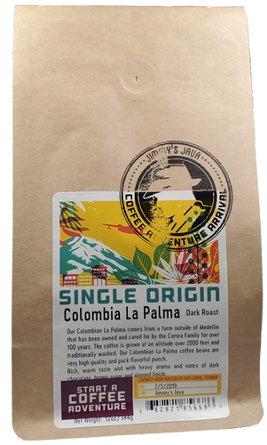 CBD Infused Colombian La Palma Dark Roast