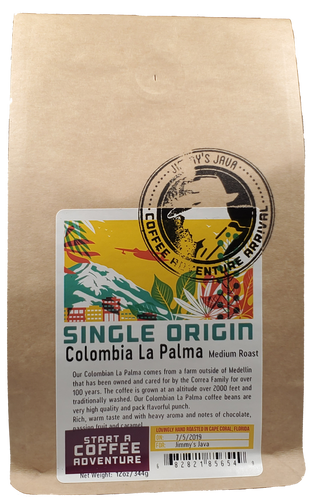CBD Infused Colombian La Palma Medium Roast