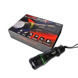 Tactics Xtreme Alloy Rechargeable Flashlight 800 Lumens-Black