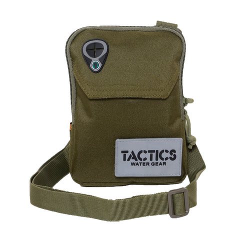 Tactics Water-Resistant Travel Undercover Neck Bag-Army Green
