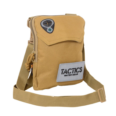 Tactics Water-Resistant Travel Undercover Neck Bag-Khaki