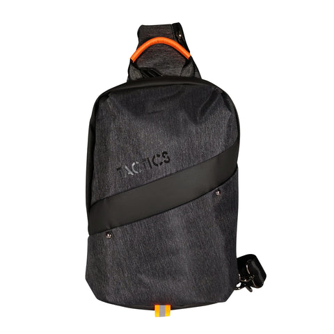 Tactics Hustle Crossbody Sling Body Bag(907)-Black