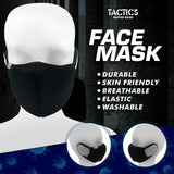 Tactics Face Mask Washable with Filter Pocket-Black Bundle (Set of 5)
