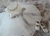 White Lace Tulle  Princess Pearl Dress