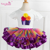 Super Fluffy Girls Birthday Tutu Set