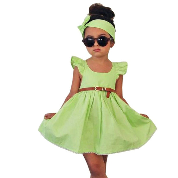 Toddler Girls Dress belt+Headband Set