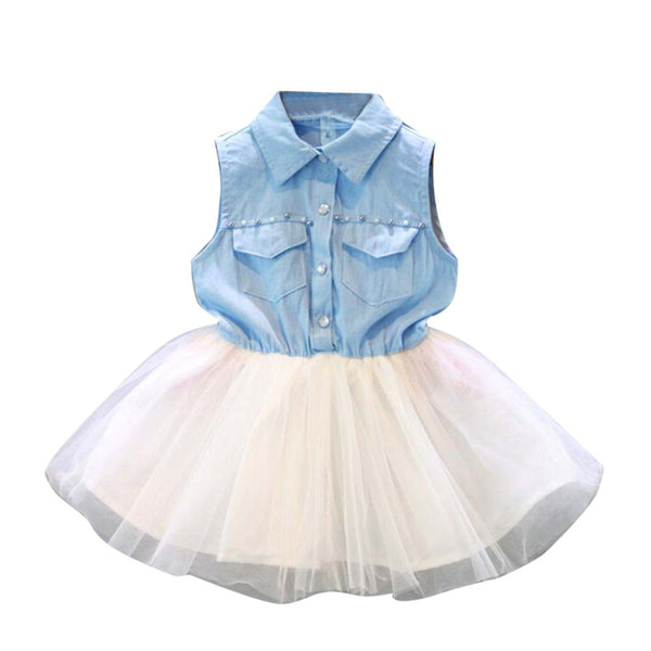 Princess Lace Denim Tulle Tutu Dresses