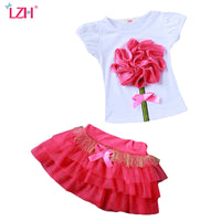 T-Shirt+Skirt 2pcs Kids  Sets