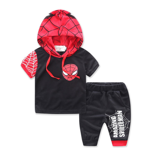 Summer Boys Hoodied Clothing Set