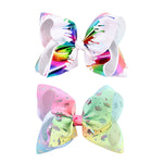 "7"" Graffiti Ribbon JoJo Bow Hair Clips"