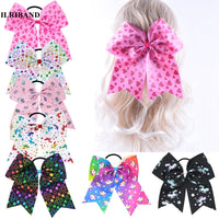 "7"" Large Unicorn Hair Bows"