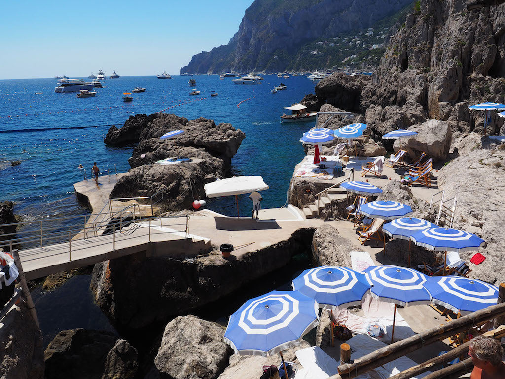 View of the beach at Positano