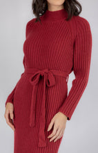 Load image into Gallery viewer, High neck knit dress